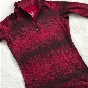 Nike Just Do It Print zipper pullover